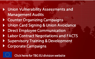 The Burke Group offers union avoidance consulting, counter union campaigns, supervisory training, union vulnerability assessments, card signing mitigation, anti-corporate campaigns and more